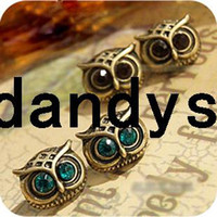 Wholesale fashion vintage accessories owl shape stud earring women earrings pair
