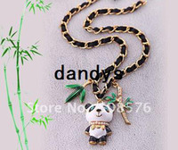 Wholesale 12pcs New HOT Bamboo Panda Women s chokers necklaces Jewelry