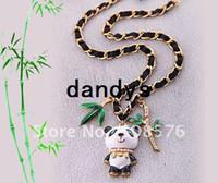 bamboo choker necklace - 12pcs New HOT Bamboo Panda Women s chokers necklaces Jewelry