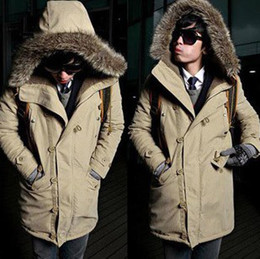 Wholesale 2013 New Winter Men s Cotton Warm Trench Coats Outwear High Quality Hot Selling colours Sizes