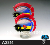 Wholesale Handmade Blown Glass Ornamental Fish Figurines