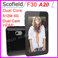 Wholesale AllWinner A20 Q88 F30 Dual Core Inch Android Tablet PC Capacitive Screen MB RAM G ROM Dual Cameras Android