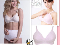 Wholesale N01 Wire Free Nursing Maternity Bra Lactation Bra Feeding Bra New Mother s bra Back Closure Adjusted straps Tow Hook and eye