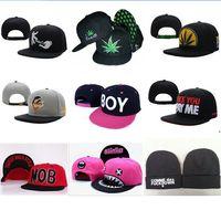 Wholesale By EMS Mixed Adjustable Snapbacks Hats Many New Design Snapback Caps Snap back Cap Men s Sport High Quality hat