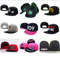 Embroidered snapbacks - By EMS or DHL Mixed Order Adjustable Snapbacks Hats Many New Design Snapback Caps Snap back Cap Men s Sport High Quality hat