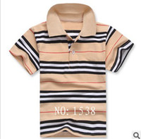 Boy 3T-4T Summer HOR NEW FREE SHIPPING baby boy summer short sleeve striped shirt boys summer polo t-shirt clothing 5pcs lot