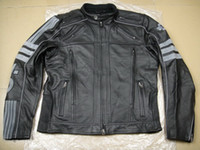 Wholesale 2013 Men s Milestone reflective genuine Leather Jacket VM motorcycle jacket