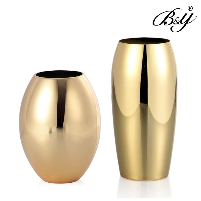 BampY Modern Vase Gold Vase Wedding Gift New House Decoration Fashion New Homes Home Accessories