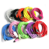 For Samsung 10 colours without retail package 250pcs lot colorful 2M Long Micro USB Data Sync Cable for Samsung Galaxy S2 i9100 N7000 S3 HTC ONE+High Quality,Free DHL Fedex