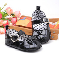 Wholesale PU Material Bow Baby First Walker Shoes Bow Soft Sole Baby Girls shoes Infants Shoes color paris