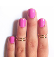 Celtic Women's Gift 2013 New Hotselling Thin Shiny Gold Silver Tone Rings Midi Knuckle ring 10 Pcs lot Women Jewelry ZY2