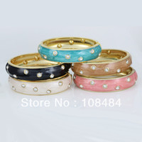 Bangle   Simple rhinestone bracelets charm fashion chinese jewelry variety of colors free shipping LM-L017