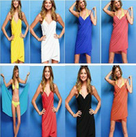 Wholesale Summer wear the latest sun beach dress sexy backless dress veil apron seaside holiday