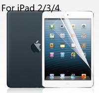 Wholesale Ultraclear Anti Scratch Surface Screen Protector Protective Film For iPad High Quality Retail Package