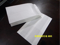 Wholesale cm greaseproof pure white paper gift bags food paper bags bread paper bags