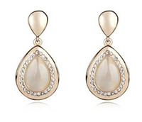 Wholesale Cat s eye Earrings Fashion Opal Jewelry Drop Earrings colors