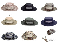 Wholesale Ben Nepalese Cap Military Army Round brimmed Hat bucket Sun Bonnet Woodland Camo Cap for Hiking