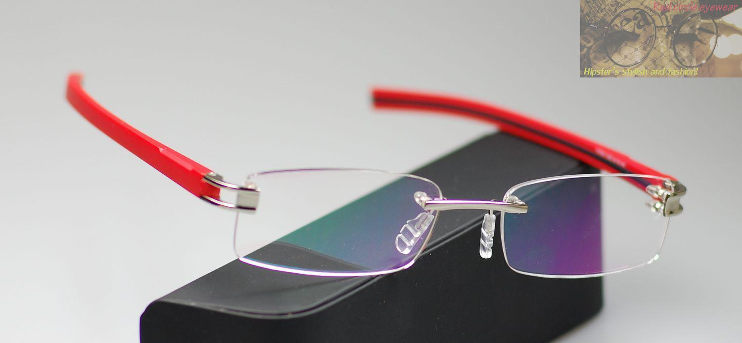 Red Rimless Glasses : Spectacle Eyeglasses Rimless TR90 Eyeglass 7644 TRACK ...