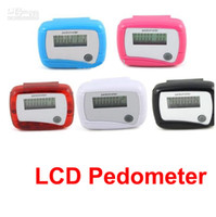 Wholesale NEW Black Pocket LCD Pedometer Step Counter Mini Single Function Pedometer