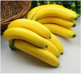 Cheative artificial simulation Fruit Artificial Foam bananas Home Decor Wedding Festival decorations shoot props Free shipping
