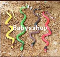 Plastics 5-7 Years,8-11 Years Snakes Funny Prank Joke Realistic Toy Lifelike Rubber Snake kidding novelty toy free shipping