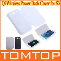 Wholesale White Qi Wireless Charging Receiver amp hard Power Back Cover Flip Case battery housing case for Samsung Galaxy S3 III i9300 PA1435W