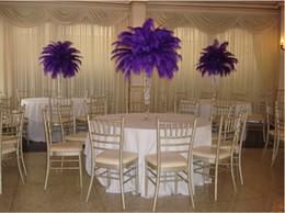 Wholesale-Prefect 100 pcs  lot Purple Ostrich Feather plumes 18-20inch(45-50cm) Wedding Table Centerpiece Decoration feather Centerpieces