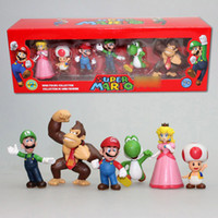 Wholesale Super Mario Figure PVC Super Mario Bros FIGURE set High Quality In Box