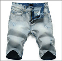 Wholesale 2013 summer new wave of men wear white hole jeans Shorts