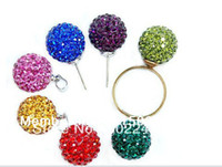 Wholesale Valentines Gift mm Half Drilled shamballa beads