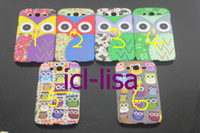 Wholesale Cute Cartoon Owl Bird Rubber Grind arenaceous Full design Hard Back Cover Case For Samsung Galaxy Grand I9082