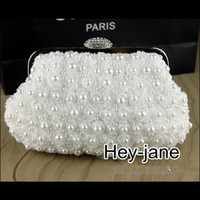 Wholesale 2015 flower Pearl Beaded wedding bridal bridesmaid handbag wedding clutch