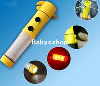 Wholesale car in Auto Emergency safety Hammer Escape Tool LED Light Instruction of multi function flashlight for auto used