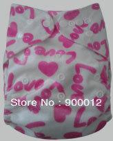 Free Shipping New Minky covers 100 pcs Baby Infant Cloth Diapers Without Inserts Reusuable Nappy Covers