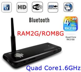 Wholesale Cx 919 Android Quad Core - CX-919 Mini Google Android TV Box Quad Core RK3188 2G 8G Android 4.1 OS Smart Mini PC BT Bluetooth HDMI Digital Media Player