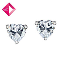 Wholesale Neoglory Stud Earrings Silver Designer Inspired Jewelry Zircon Gift