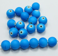Wholesale mm Light Blue Fluorescent Neon Beads Acrylic Round loose Spacer Beads DIY Findings