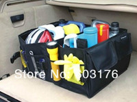 Wholesale Car Boot Storage Bags Auto Folding Toolbox Organizer Box Supplies Locker Portable Car Trunk Carrying Reticule