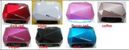 Wholesale Color W amp W UV LED Gel Nail Lamp Gel Curing Tube Light Nail Art Polish Dryer Machine V V