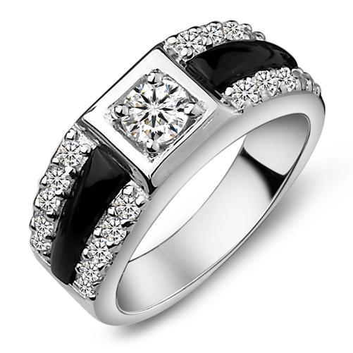 see larger image - Onyx Wedding Ring