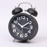 Wholesale Digital Clock Retro Twin Bell Alarm Clocks Desktop Clock Circular shaped Alarm Clock