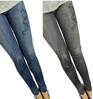 Wholesale 2013 New Denim Jeans women girl Sexy Leggings Jeggings Tights Skinny Pants Jean Legging lt lt njy84