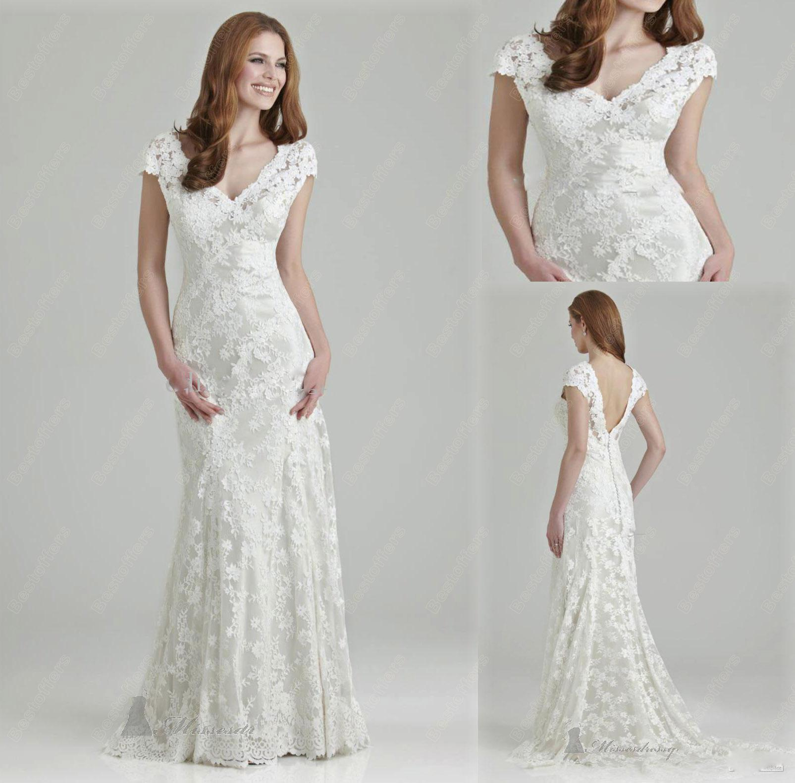 Collection Lace Aline Wedding Dress Pictures - Weddings Pro