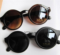Wholesale Cheap Sunglasses Women Round Frame Vintage Style Colors New Arrival Mix Color B11