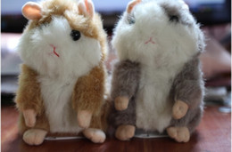 Wholesale Mimicry Pet Talking Hamster and moving Hamster talking Plush Toy Gray light brown Colo