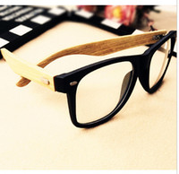Wholesale Fashion New Bamboo wood glasses frame radiation resistant myopia computer plain rivet glasses