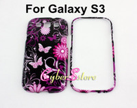 Plastic butterfly in flower - 150pcs New Colorful Layer in Zebra Stripe Flower Butterfly Heart Star Hard Case Cover for Samsung Galaxy SIII S3 i9300