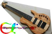 al por mayor instrumento musical de cuerdas-Bajo encargo de la mariposa de la VENTA CALIENTE modifique para 6 cuerdas Bajo eléctrico naturales de una pieza OEM cuerpo disponibles Instrumentos musicales más nuevos 6 cuerdas