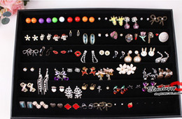 Jewelry Earrings Tray Display Jewelry Studs Trays Display Holder cheap jewelry showcase case Jewelry 60 Pairs Earrings holder PB1