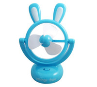 Wholesale Mini Cute Rabbit USB Fan Plastic Flabellum Desktop Handhold Air Conditioning Fan Laptop Fan